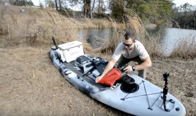 Paddle Board Loaded for Camping - Kaku Kahuna