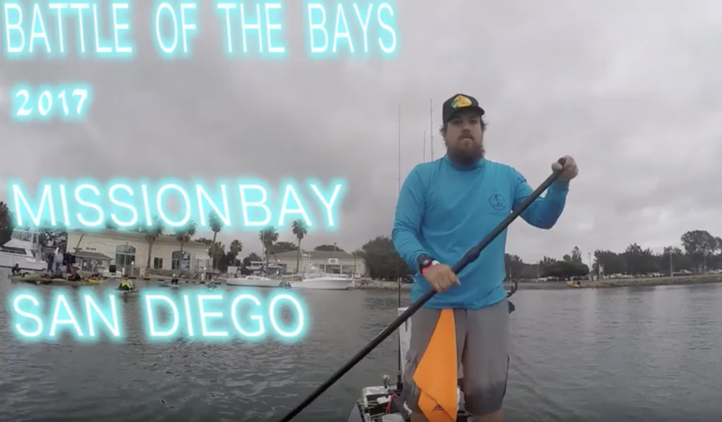 Stand up paddle board fishing Mission bay. Battle of the bays tournament