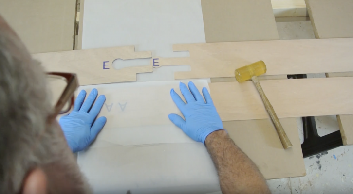 Boardman 14 SUP Construction Video #2: Gluing the Side Scarfs