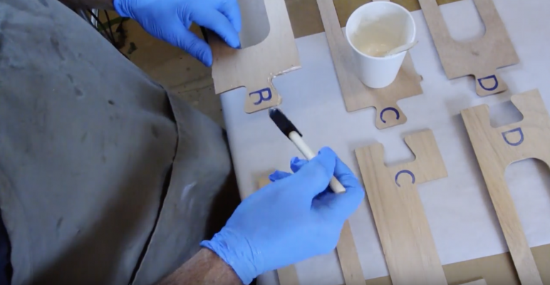 Boardman 14 SUP Construction Video #3: Gluing the Longitudinal Scarfs