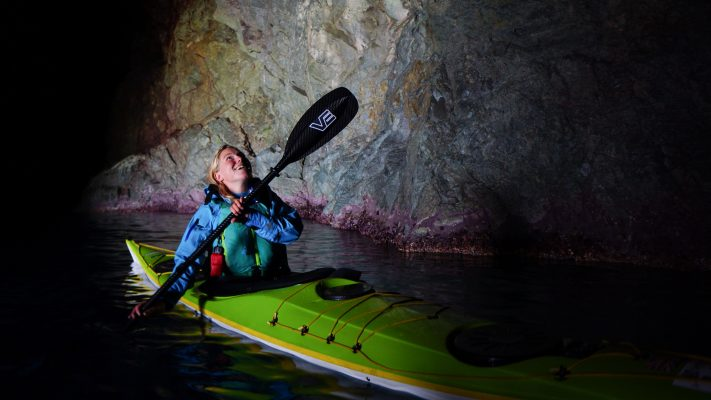 Bekx Handcock sea kayaking in Corsica©Erin Bastian VE Paddles