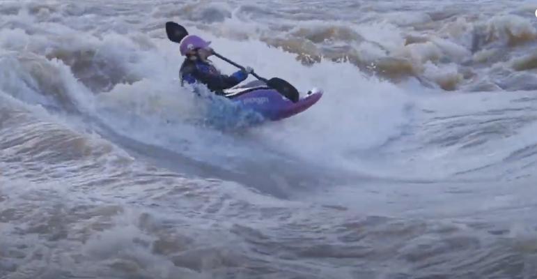 Makinley Kate Hargrove - Freestyle Kayaking Highlights - JK Little Shredders