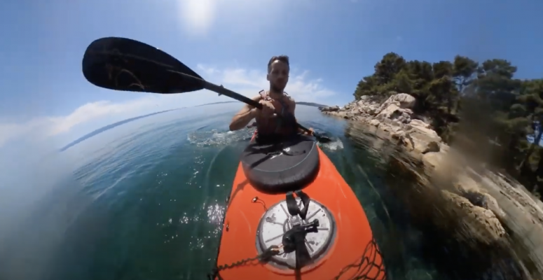 Sea kayaking is fun - little break in Split