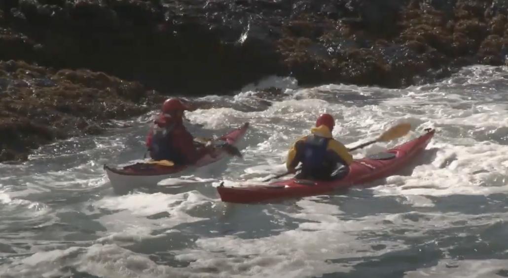 2020 sea kayaking skills - scramble self rescue