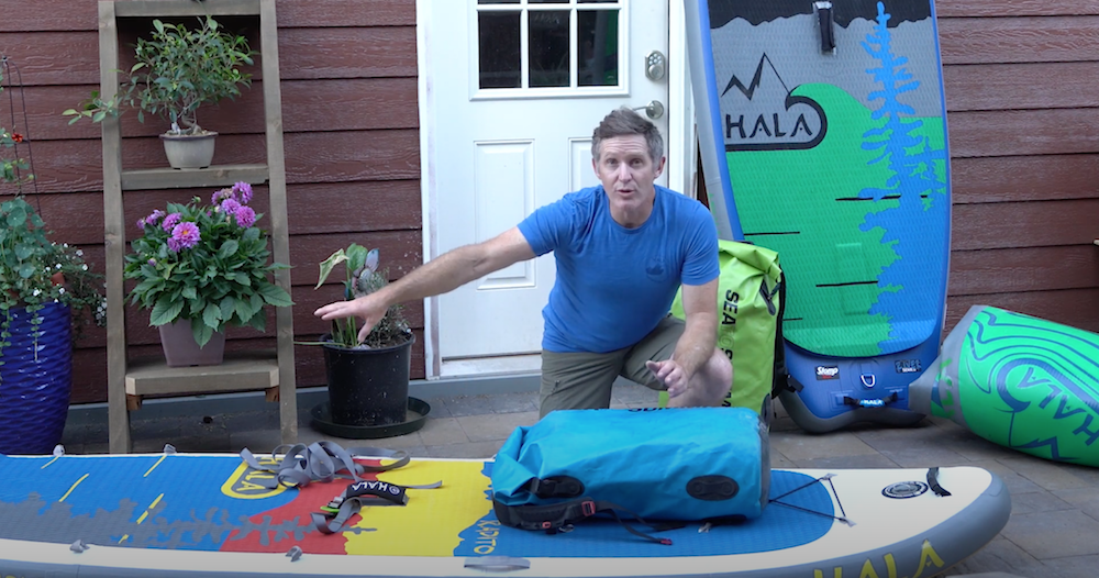 Paul Clark shows how he rigs a his sup board to take on Self-support multi-day paddling trips.