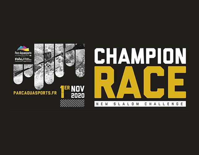 Pau Champions Race 2020 poster whitewater slalom kayak