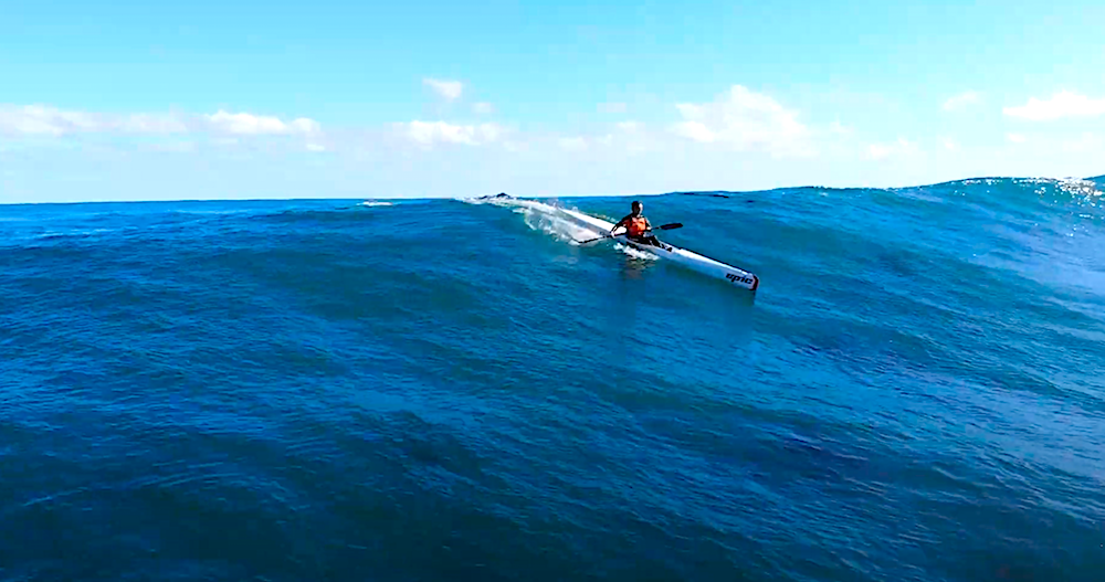 Surfski Surfing with the Mocke bros at the Crayfish Factory Cape Town