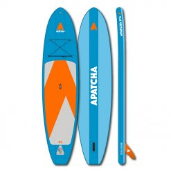 This stable 11'6 board is perfect for long paddling excursions on lakes, rivers and oceans. Being equipped withPVC pressure and tension belts it is extremely sturdy.