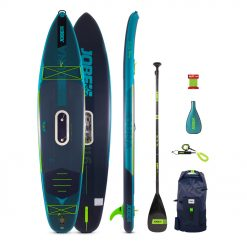 The 2021 Jobe E-Duna 11.6 Inflatable Paddle Board Package Without E-Duna Drive is one of the coolest things to happen to Stand Up Paddle boarding. Featuring an integrated yet, removable battery powered motor the E-Duna can glide you through the water with relative ease.