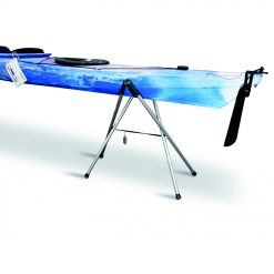 Foldable boatstand for showrooms, repairing, storage and cleaning.
