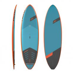The combination of a surfboard outline, subtly curved rocker line and generous volume thinned out on the rails through a step deck is a winning concept that fuses glide and stability with great surfing characteristics. The bottom shapes feature concaves throughout running into a V towards the tail. The V in the tail helps to rail up when going down a wave. Their noses create efficient lift and the thinned out rails produce good bite during turns.