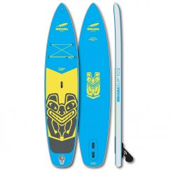A teenager with a weight up to 60 kg will have fun with the Groms 10'2. With the little nose-scoop even choppy conditions and small waves can be handled easily. Thanks to the 4.75 Inch thick Single Layer Dropstitch, the board weighs only 6.6 kg but is still very stiff.