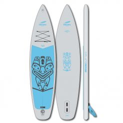 The 12'0 Family Touring board is the largest board in the Family series. The 343 liters volume encased in a robust pre-laminated double layer also carries heavy or multiple family members stably on the water without bending.