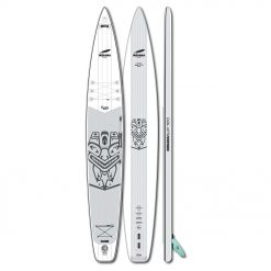 The longer the faster. This is especially suitable for heavier paddlers who need additional volume. The directional stability is sensational; pivot turns, however, does require some practice.