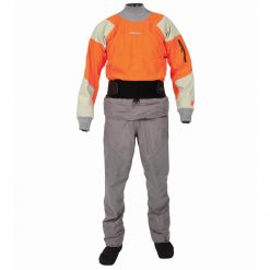 Exclusively from Kokatat, the Idol dry suit with SwitchZip technology separates completely at the waist giving paddlers the versatility of a dry suit and dry top in one garment.
