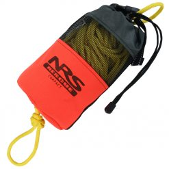 The NRS Compact Rescue Throw Bag is easy to stow in any kayak and features 21.3 meters of 6 mm rope.