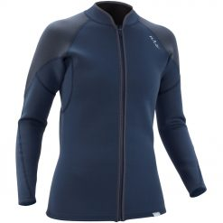 Zip up the NRS Women's Ignitor Jacket over your bikini-top when the splash is chilly or layer it over a rashguard or other baselayer when a little more insulation is needed.