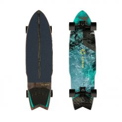 The Pro Model surfskate replicates the feeling and movement of surfing with a free motion front truck and a rigid rear truck.