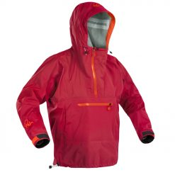 A single waist paddling jacket that's quick and easy to throw on when the weather changes. The fleece-lined kangaroo-pouch pocket will keep your hands warm and out of the wind. Wear it to paddle or just to walk the dog, it packs down into its own hood to store away for an unexpected downpour.