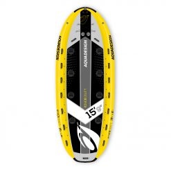 Designed for use in the river thanks to its 3 inflatable compartments, it ensures the safety necessary for the practice in white water. Designed like a raft with its giant size, this super SUP allows one to multiply the pleasure by adding team spirit.