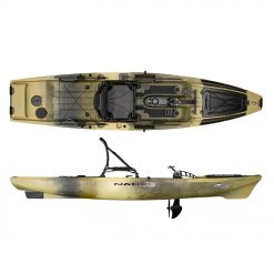 The hands-free forward to reverse propel pedal drive. Couple all these new features with the updated extended rudder and you have one serious kayak fishing platform that will perform in offshore salt, inshore salt and in freshwater environments.