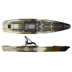 """The SS127 is the ultimate in fishability from a kayak. Every feature was designed from the ground up to create an amazing angling experience. Featuring a hybrid catamaran hull design that provides uncompromised stability in various conditions, this boat is not kind of stable, its crazy stable (at only 33.5"""" wide!)."""