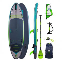 The Jobe Venta 9.6 Inflatable Paddle Board Package is an all new shape and is the perfect modular SUP for your adventurous needs! Featuring an easy to install windsurf mount, this inflatable stand up paddle board can take you wherever you want to go and back again with a little help from mother nature!