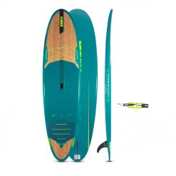 It all started with water. So let's find those fishy feelings! Jobe's Bamboo series consists out of nature-inspired, innovative SUP boards with integrated channels. If you could pick one true all-round-board, the Jobe Ventura 10.6 should be your choice. With a large surface area, this blue bamboo-beauty is truly versatile and stable for surfers up to 120 kg. Next to its royal blue look, with catchy green accent and a bamboo veneer layer, the Ventura is engineered with two bright green channels to maximize stability and speed while supporting efficient tracking.
