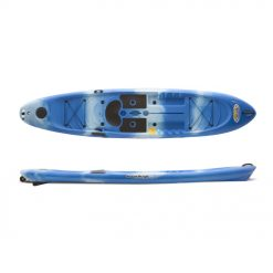 It functions superbly as a SUP (stand up paddleboard) and fluidly as a SOT (sit on top) kayak. Sport options range from a hardcore angler's favorite fishing vessel, to a play machine and diving platform for the whole human and canine family, to a tread mill for core training. With a spring loaded skeg system controlled with a simple lever, the Versa Board flips from agile turner in tight areas to a true tracking craft.