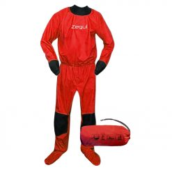 The Air drysuit is a multipurpose light waterproof top layer paddling suit that leaves you room for base layers and won't restrict your paddling motion. It offers an outstanding performance and comfort for paddlers wanting a breathable and extra lightweight suit. The Air drysuit has latex collar and cuffs that minimizes water entering the suit.