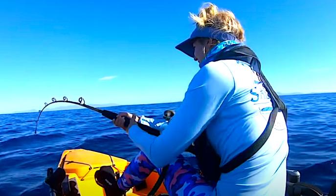 marlin kayak fishing