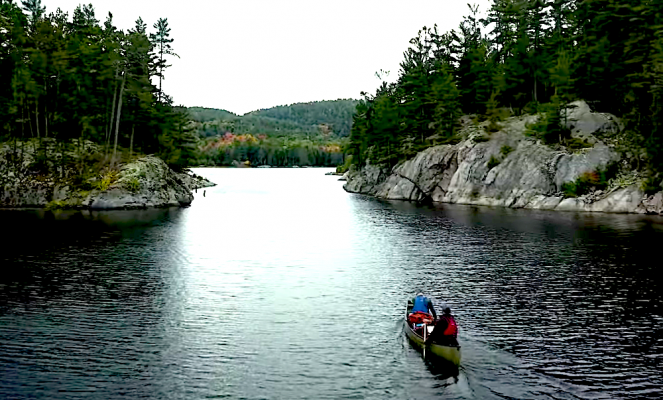 the pig portage on the killarney 5 day canoe trip in canada