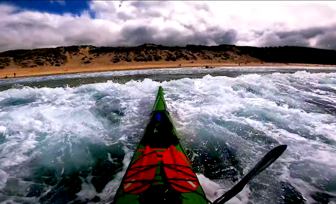 Follow SKC coach, James Roberts on a 2 day sea kayaking surf session on the beautiful Cornish coast. Nice waves, clear water and no rain, looks great!