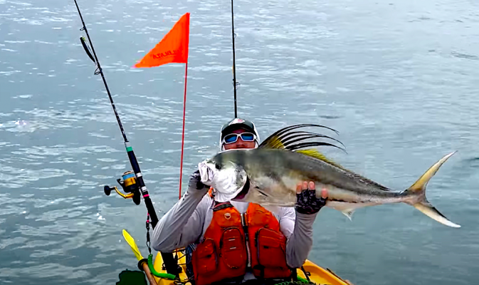 Offshore Kayak Fishing for MONSTERS of the Pacific