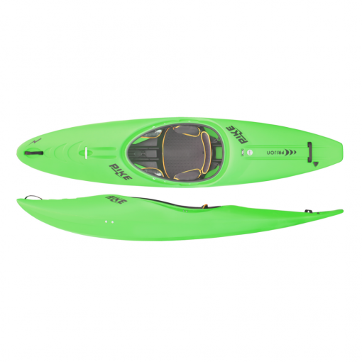 THE NEW BENCHMARK FOR RIVERRUNNERS! A riverplay kayak with an enormous fun factor. Thanks to its fast and agile shape, this boat combines the dynamics of a riverrunner with the safety of a creeker. Playing, cruising and creeking in one boat. It has enough rocker and volume to climb up over big holes, a sporty stern for a lot of fun, and a planing hull for when you find an inviting river wave. The PIKE accelerates rapidly, reaches speed with just a few strokes, can be paddled on a line and or turned on the spot. In, through and out of eddies, surfing and carving becomes a real pleasure with it.
